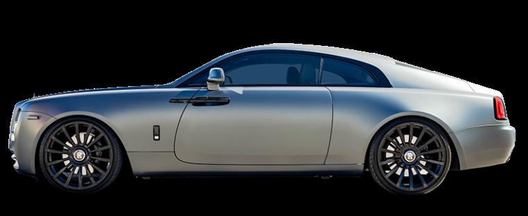 A silver Rolls-Royce Wraith