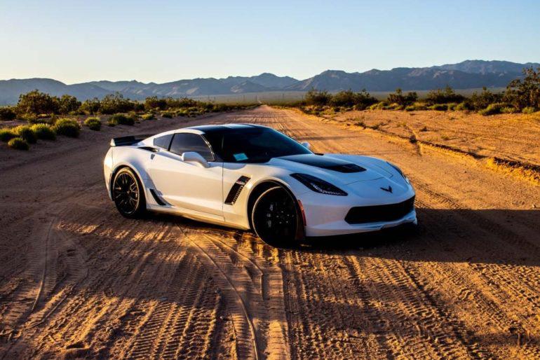 Corvette Z06 in desert