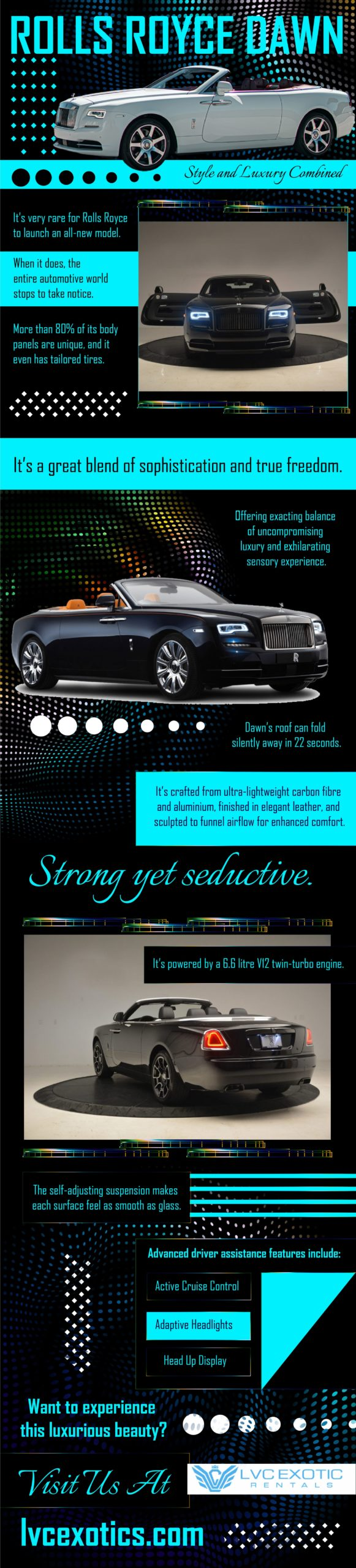 Style and design of rolls royce dawn