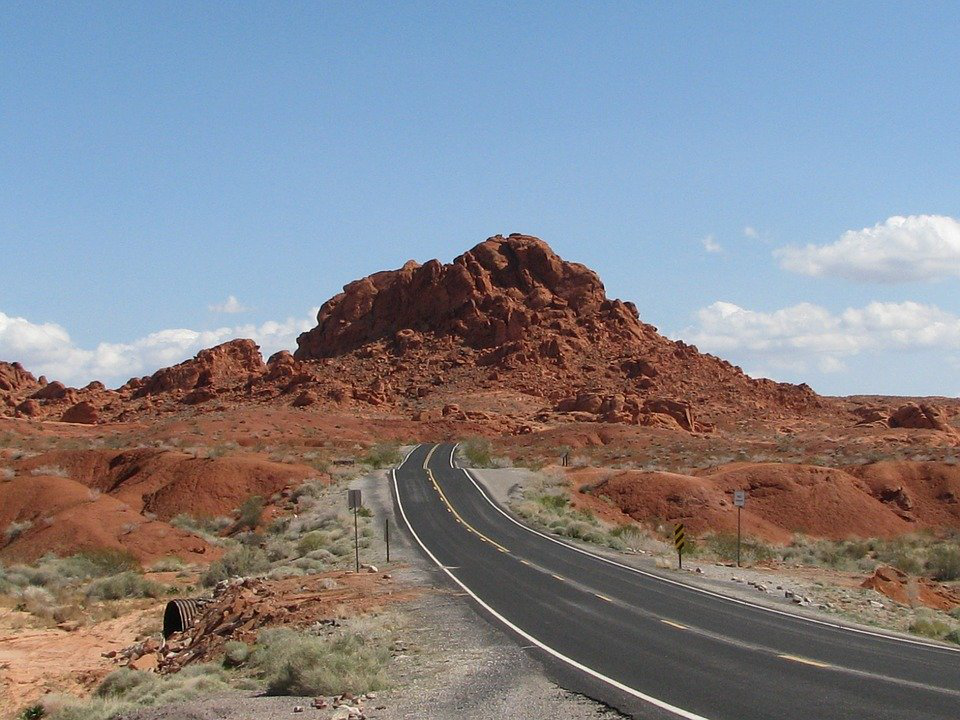 Road Leading Through The Valley Of Fire