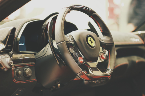 Ferrari 458 Italia steering wheel