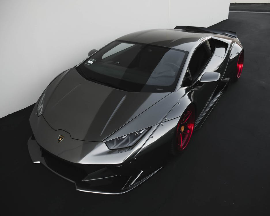 chrome black Lamborghini Huracan