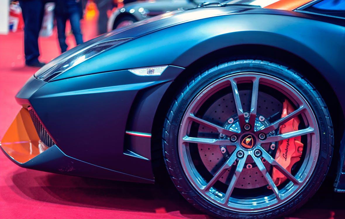 front side of Lamborghini Aventador